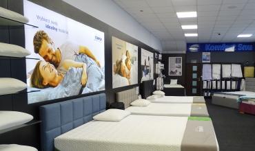Łóżka od ręki - salon Komfort Snu w Bydgoszczy przy ulicy Szajnochy 2.
