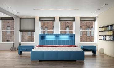 Łóżka tapicerowane Mk foam Koło